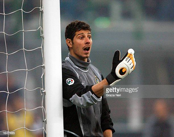 Francesco Toldo of Inter Milan in action during the Serie A match between Inter Milan and Juventus played at the San Siro Stadium Milan Italy on...