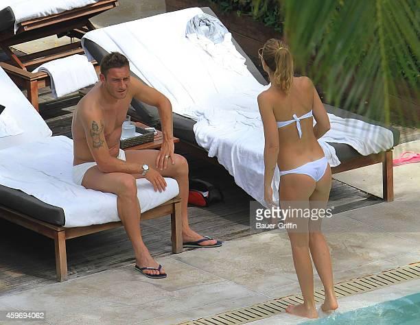 Francesco Totti and wife Ilary Blasi are seen on June 07 2012 in Miami Florida