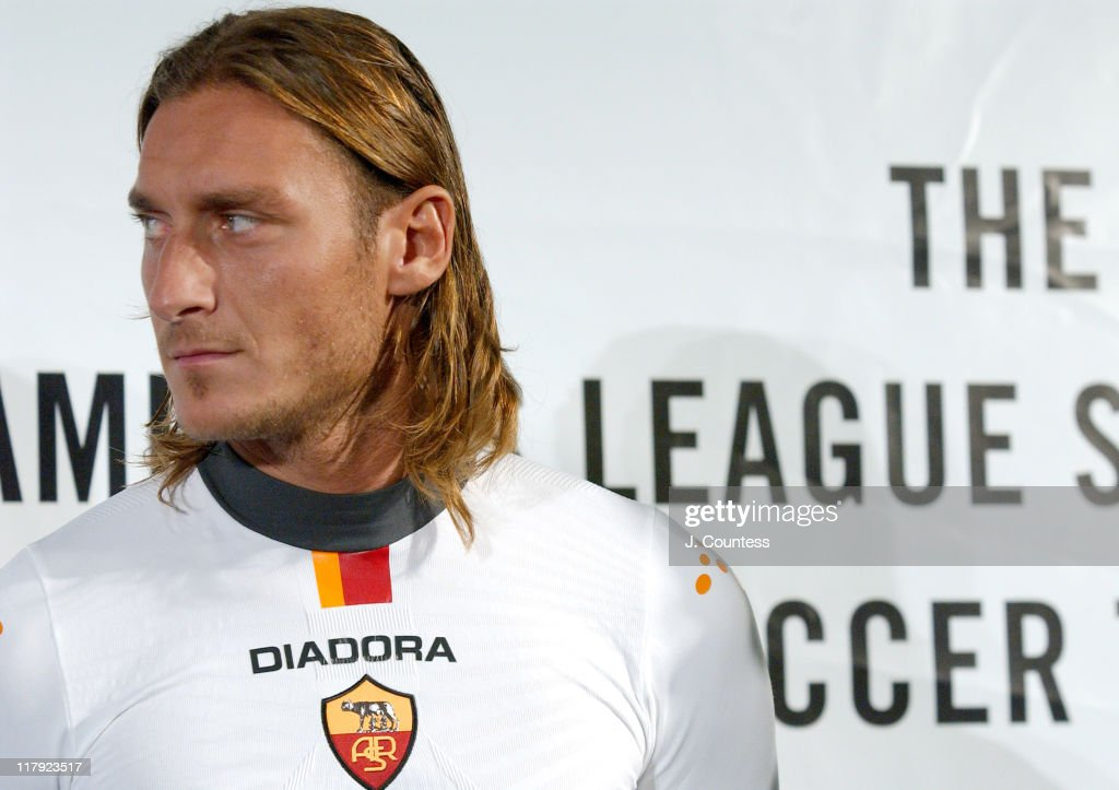 Diadora Launches Their New Clothing Line Created Especially for AS ROMA, Italian Soccer League Champions : News Photo
