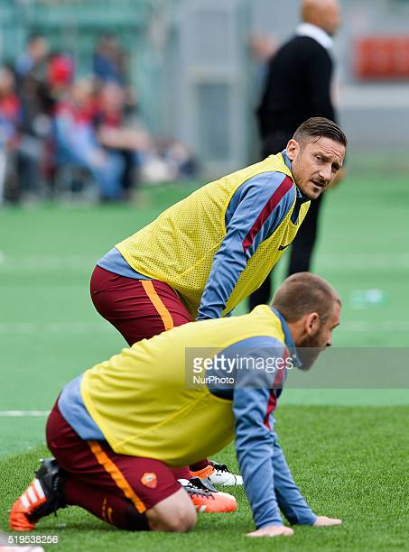 Francesco Totti Daniele De Rossi Luciano Spalletti during the Italian Serie A football match between SS Lazio and AS Roma at the Olympic Stadium in...
