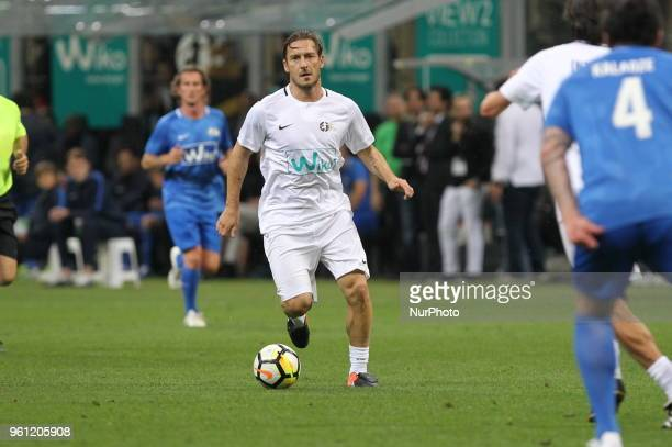 Francesco Totti during quotLa partita del Maestroquot the farewell match by Andrea Pirlo at Giuseppe Meazza stadium on May 21 2018 in Milan Italy