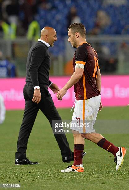 Francesco Totti during the Italian Serie A football match AS Roma vs FC Bologna at the Olympic Stadium in Rome on april 11 2016