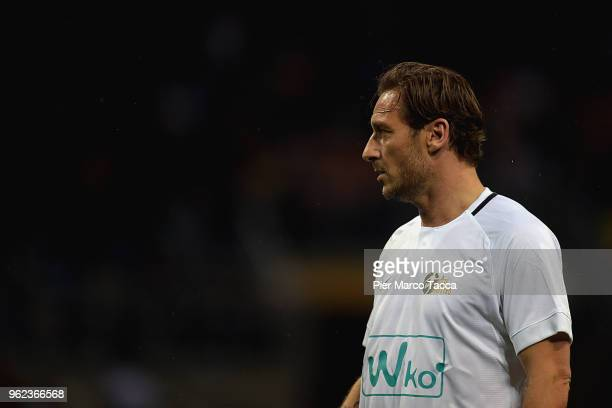 Francesco Totti in action during Andrea Pirlo Farewell Match at Stadio Giuseppe Meazza on May 21 2018 in Milan Italy