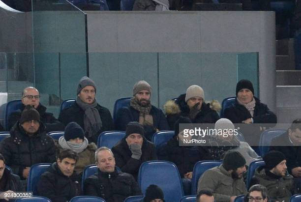 Francesco Totti Monchi Mauro Baldissoni Antonio Tempestilli during the Italian Serie A football match between AS Roma and AC Milan at the Olympic...