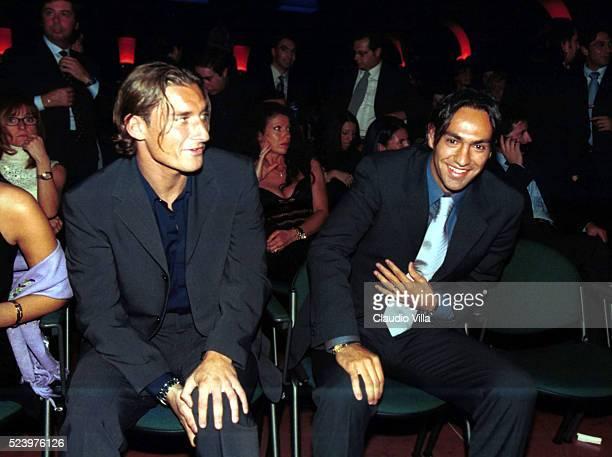 Francesco Totti of AS Roma and Alessandro Nesta of SS Lazio attend the 'Oscar del Calcio Parmalat in Parma