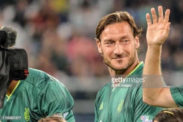 Francesco Totti of Campioni Per La Ricerca seen during a 'Partita Del Cuore' Charity Match at Allianz Stadium. Campioni Per La Ricerca win the...