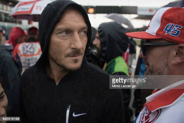 Francesco Totti of Italy looks on on the grid during the MotoGP Race during the MotoGP of San Marino Race at Misano World Circuit on September 10...