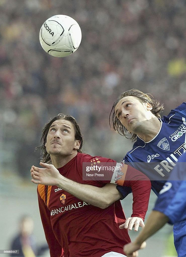 Francesco Totti of Roma in action during the Serie A match between AS Roma and Empoli at the Stadio Olimpico on February 19, 2005 in Rome, Italy.