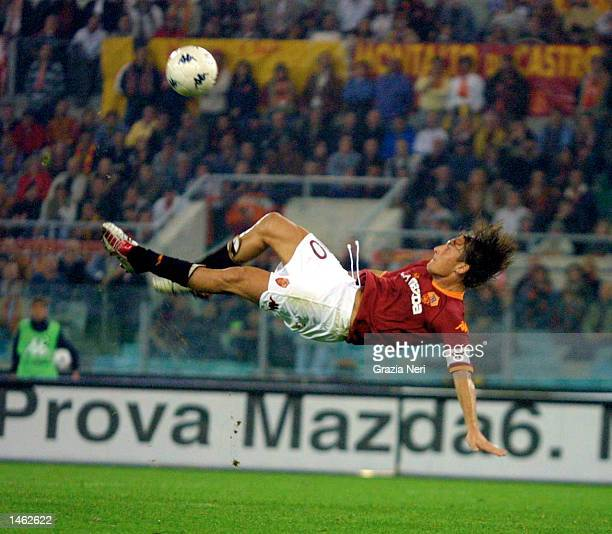 Francesco Totti of Roma in action during the Serie A match between Roma and Udinese played at the Olympic Stadium Rome on October 5 2002