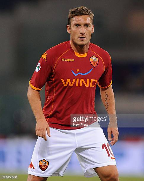 Francesco Totti of Roma in action during the Serie A match between Roma and Reggina at the Stadio Olimpico on September 20 2008 in Rome Italy