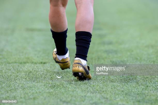Francesco Totti of Roma on his last appearance in Rome after more than 20 years during the Serie A match between Roma and Genoa at Stadio Olimpico...