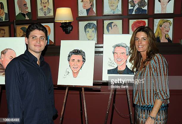 Francesco Valli and Lisa Gaudio attend the Frankie Valli Bob Gaudio Marshall Brickman Rick Elice caricature unveiling at Sardi's on November 8 2010...