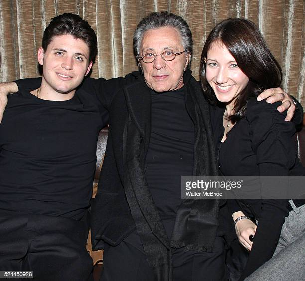 Francesco Valli Frankie Valli Girlfriend during the Jersey Boys Party Celebrating Five Years On Broadway at the Rooftop at the Empire Hotel in New...