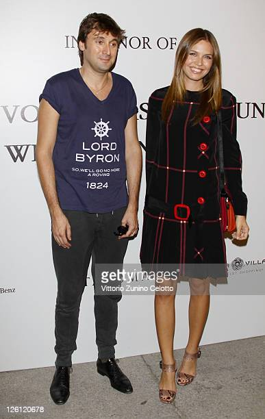 Francesco Vezzoli and Dasha Zhukova attend The Vogue Fashion Fund Who Is On Next party dring Milan Fashion Week Womenswear Spring/Summer 2012 at...