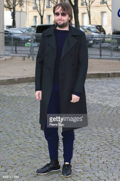 Francesco Vezzoli arrives at the Miu Miu show as part of the Paris Fashion Week Womenswear Fall/Winter 2017/2018 on March 7 2017 in Paris France