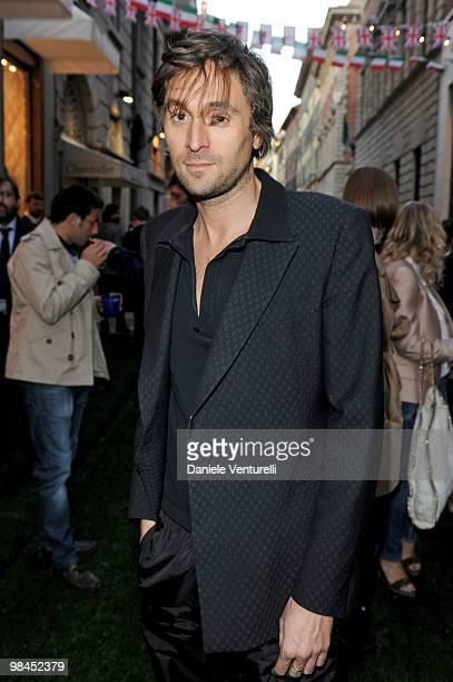 Francesco Vezzoli attend the Stella McCartney flagship store opening party on April 14 2010 in Milan Italy