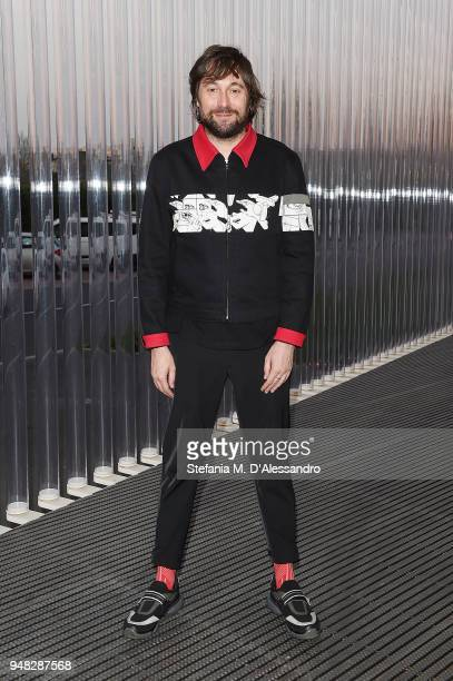 Francesco Vezzoli attends Private Event On The Occasion Of The Opening Of Torre at Fondazione Prada on April 18 2018 in Milan Italy