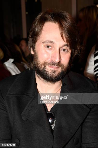 Francesco Vezzoli attends the Alberta Ferretti show during Milan Fashion Week Fall/Winter 2017/18 on February 22 2017 in Milan Italy