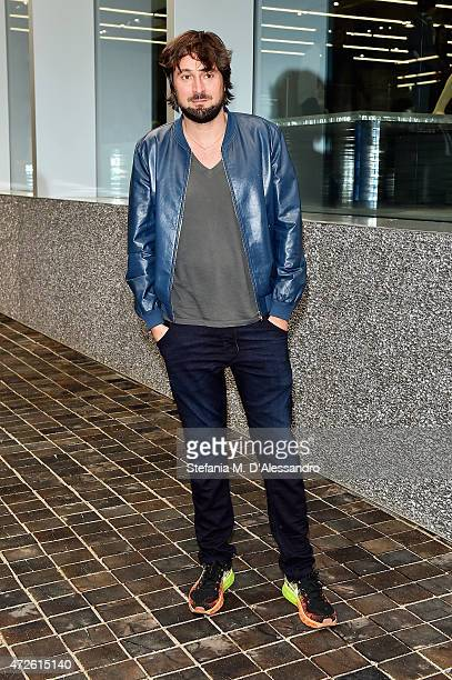 Francesco Vezzoli attends the Fondazione Prada Opening on May 8 2015 in Milan Italy