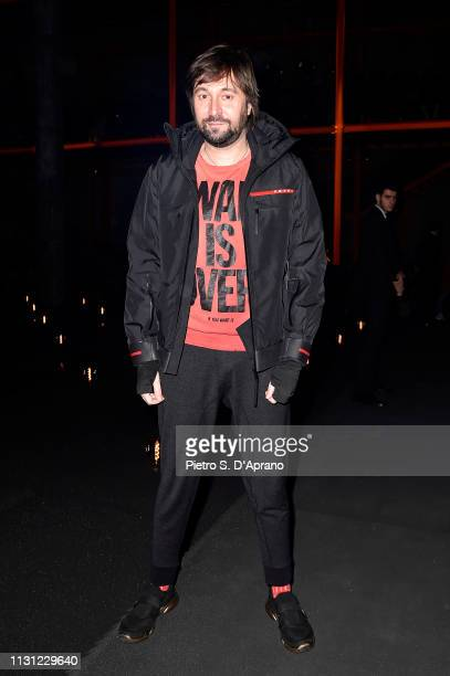 Francesco Vezzoli attends the Prada Show during Milan Fashion Week Fall/Winter 2019/20 on February 21 2019 in Milan Italy