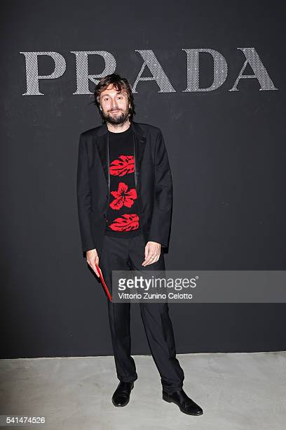 Francesco Vezzoli attends the Prada show during Milan Men's Fashion Week SS17 on June 19 2016 in Milan Italy
