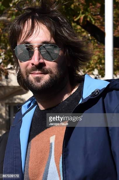 Francesco Vezzoli is seen arriving at Miu Miu show during Paris Fashion Week Womenswear Spring/Summer 2018 on October 3 2017 in Paris France