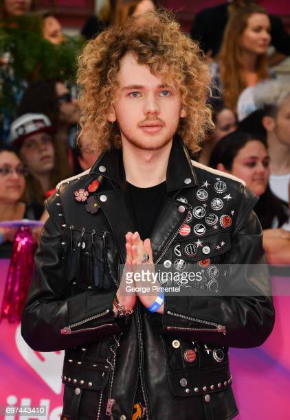 Francesco Yates arrives at the 2017 iHeartRADIO MuchMusic Video Awards at MuchMusic HQ on June 18 2017 in Toronto Canada