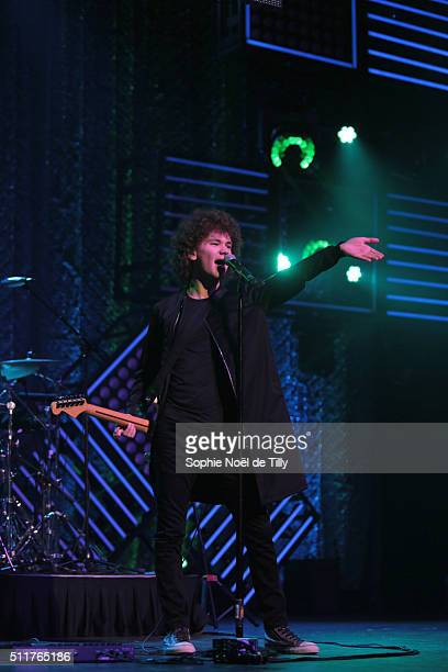 Francesco Yates attends the Unis pour l'action Montreal at Theatre Saint Denis on February 22 2016 in Montreal Canada