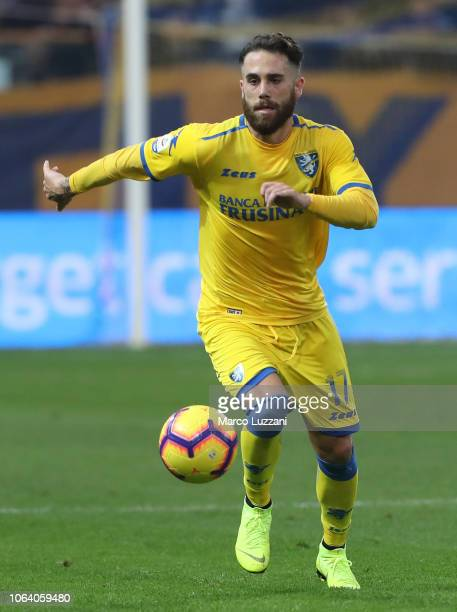 Francesco Zampano of Frosinone Calcio in action during the Serie A match between Parma Calcio and Frosinone Calcioat Stadio Ennio Tardini on November...