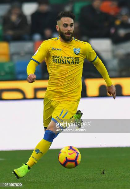 Francesco Zampano of Frosinone Calcio in action during the Serie A match between Udinese and Frosinone Calcio at Stadio Friuli on December 22 2018 in...