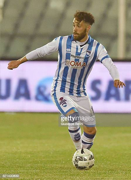 Francesco Zampano of Pescara Calcio in action during the Serie B match between Pescara Calcio v AC Cesena at Adriatico Stadium on April 15 2016 in...