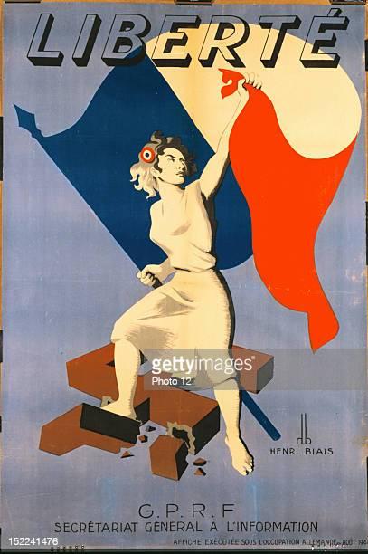 FranceWorld War II Liberty Poster August 1944 ParisB D I C