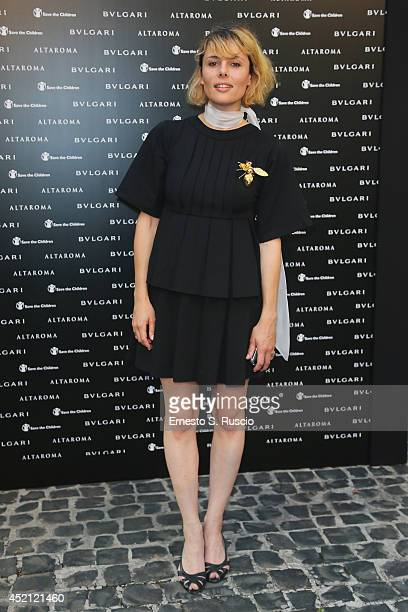 Franch musician Loane attends the 'Isabella Ferrari Forma/Luce' cocktail party at Horti Sallustiani on July 13, 2014 in Rome, Italy.