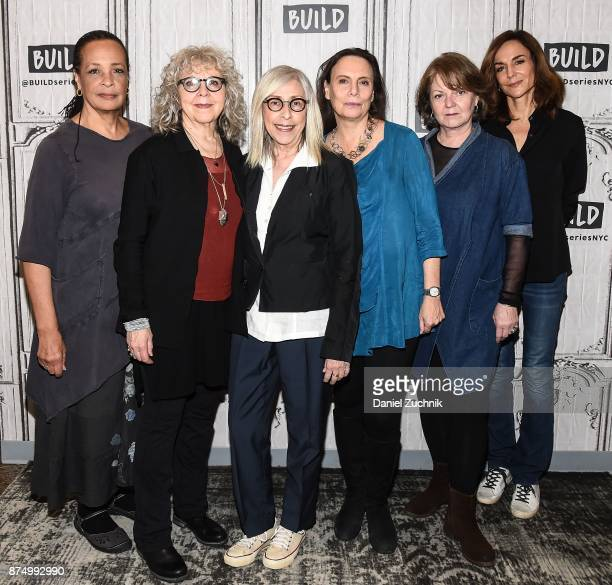 Franchelle Stewart Dorn Kathryn Grody Susan Miller Emily Mann Ellen Parker and Polly Draper attend the Build Series to discuss the Broadway play...