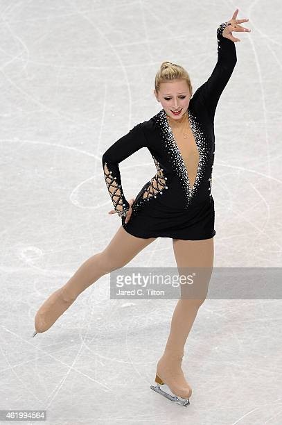 Franchesca Chiera competes in the Championship Ladies Short Program Competition during day 1 of the 2015 Prudential US Figure Skating Championships...