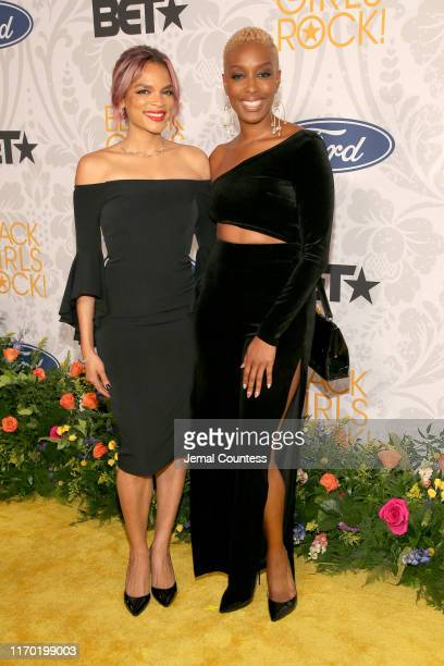 Franchesca Ramsey and guest attend Black Girls Rock 2019 Hosted By Niecy Nash at NJPAC on August 25, 2019 in Newark, New Jersey.