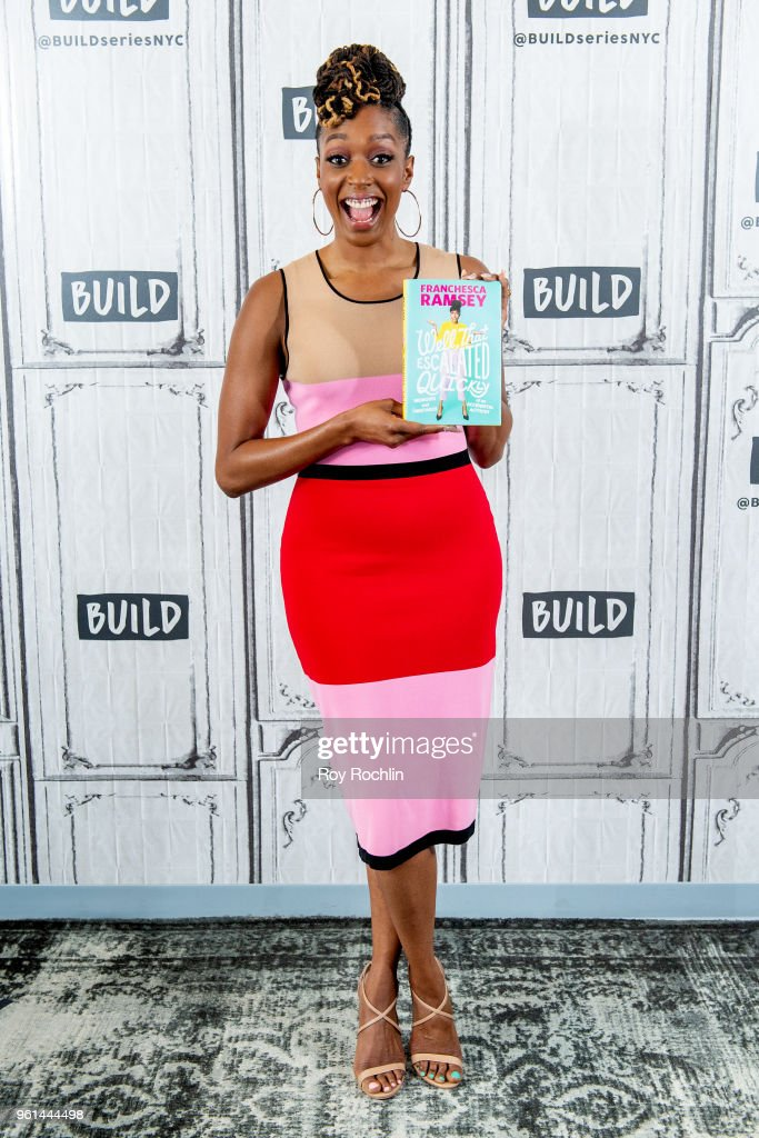 Franchesca Ramsey discusses 'Well, That Escalated Quickly: Memoirs and Mistakes of an Accidental Activist' with the Build Series at Build Studio on May 22, 2018 in New York City.