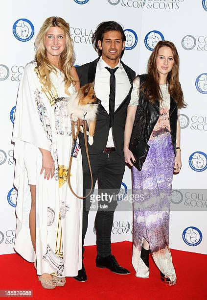 Francheska Hull Ollie Locke and Rosie Fortescue of Made in Chelsea attend the Collars Coats Gala Ball at Battersea Evolution on November 8 2012 in...