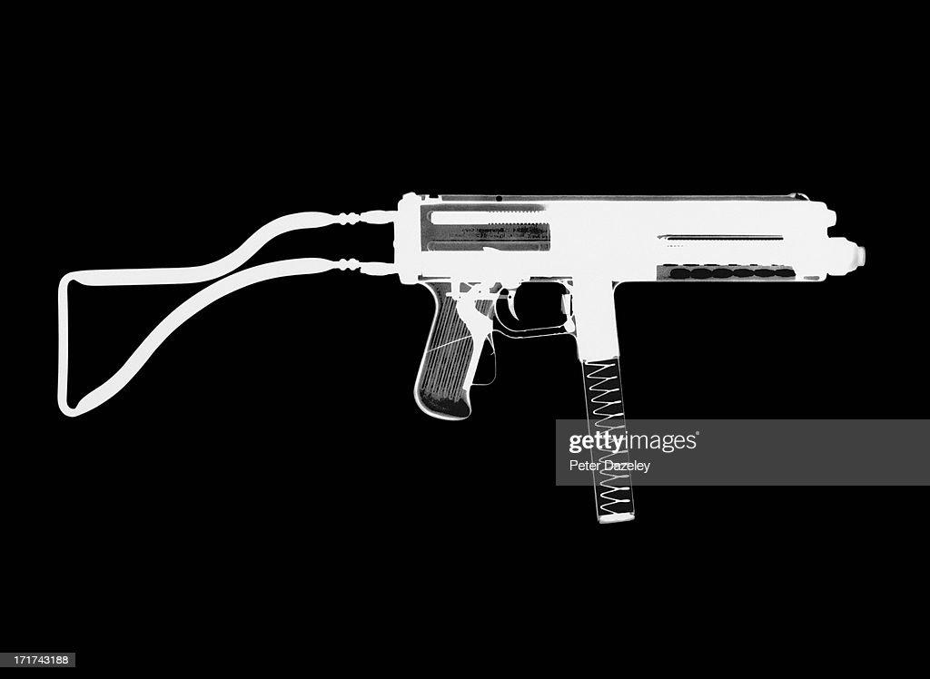 Franchi LF-57 Sub Machine Gun X-ray : Stock Photo