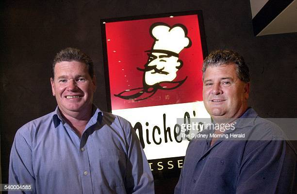 Franchise Operators The coManaging Directors of Michel's Patisserie Noel Carroll and Noel Roberts outside the Clarence St shop 23 April 2004 SMH...