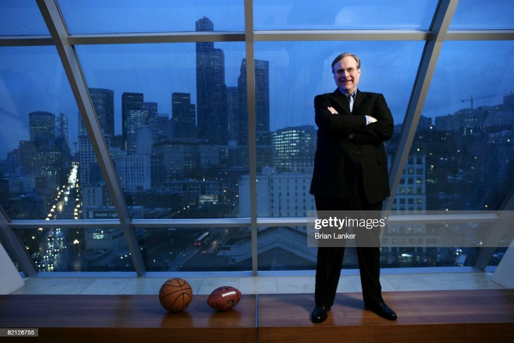 Portrait Of Portland Trail Blazers Team And Seattle Seahawks Owner Paul Allen In Office At