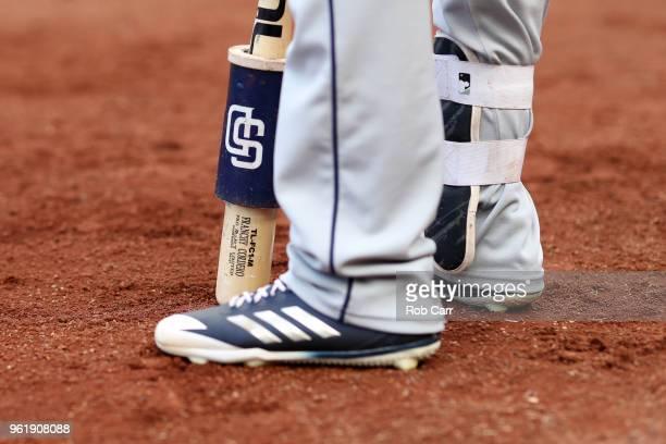 Franchy Cordero of the San Diego Padres waits to bat Washington Nationals at Nationals Park on May 23 2018 in Washington DC