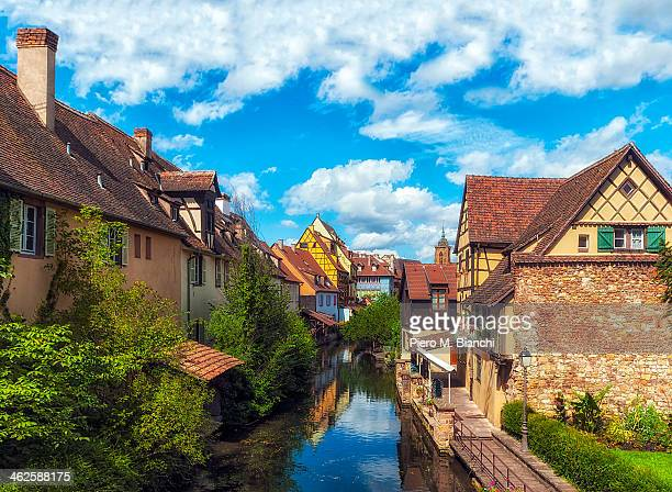 francia, colmar, petite venise - colmar stock photos and pictures