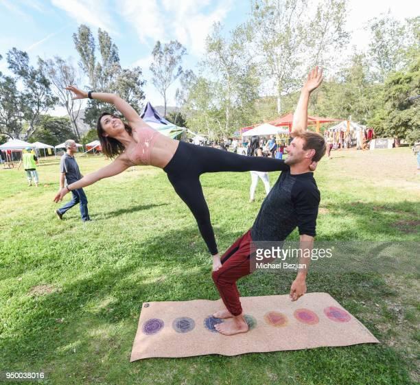 Francia Raisa and Nicholas Coolridge attend Imagine Fest Yoga and Music Festival 2018 on April 21 2018 in Agoura Hills California