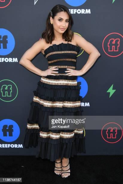 Francia Raisa attends 2nd Annual Freeform Summit at Goya Studios on March 27, 2019 in Los Angeles, California.