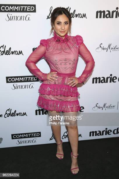 Francia Raisa attends Marie Claire Celebrates Fifth Annual 'Fresh Faces' in Hollywood with SheaMoisture Simon G and Sam Edelman at Poppy on April 27...