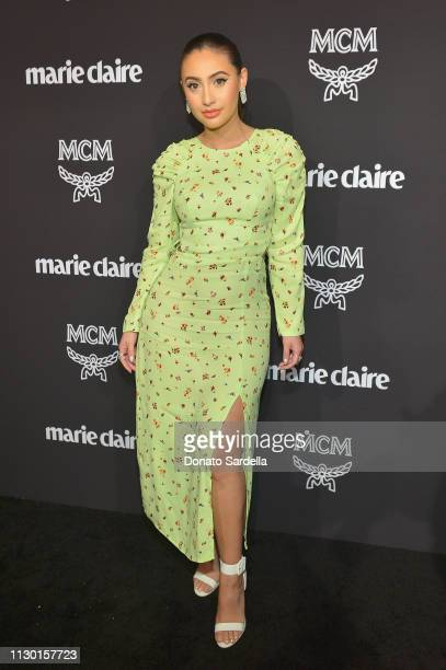 Francia Raisa attends MCM x Marie Claire Change Makers Event at Hills Penthouse on March 12, 2019 in West Hollywood, California.