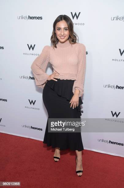 Francia Raisa attends Nights Of Freedom LA hosted by Unlikely Heroes at W Hollywood on June 21 2018 in Hollywood California