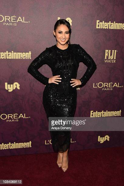 Francia Raisa attends the 2018 PreEmmy Party hosted by Entertainment Weekly and L'Oreal Paris at Sunset Tower Hotel on September 15 2018 in West...