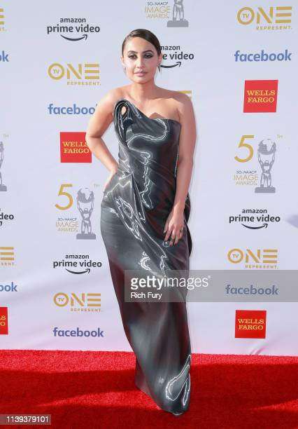 Francia Raisa attends the 50th NAACP Image Awards at Dolby Theatre on March 30, 2019 in Hollywood, California.